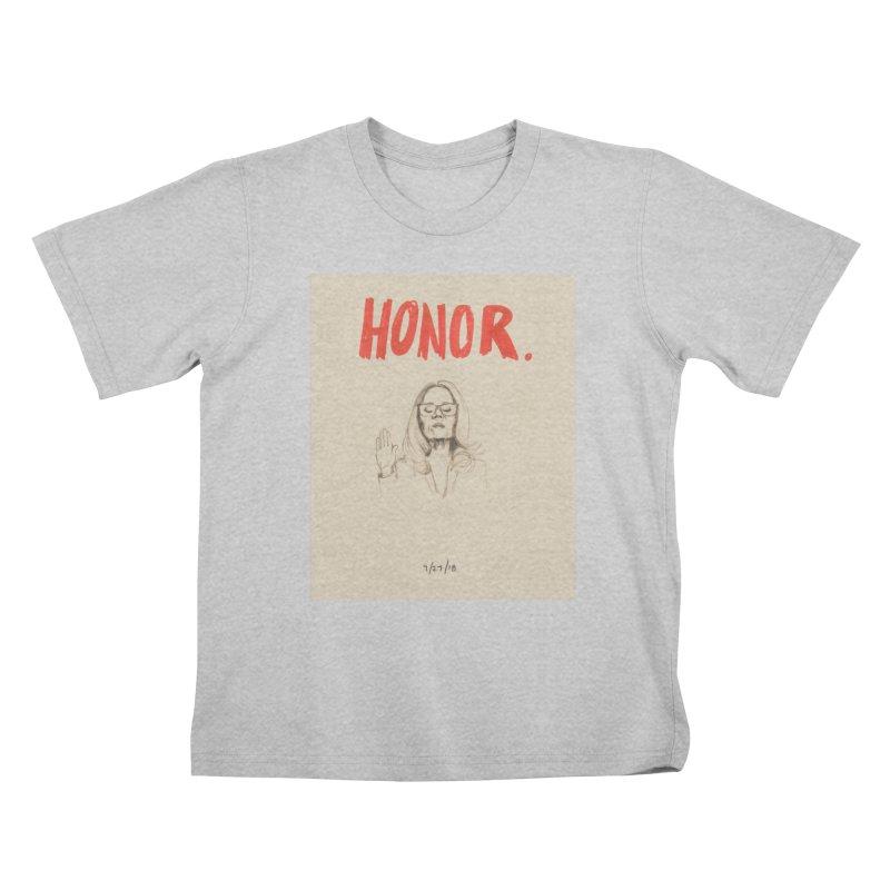HONOR Kids T-Shirt by Jess Love