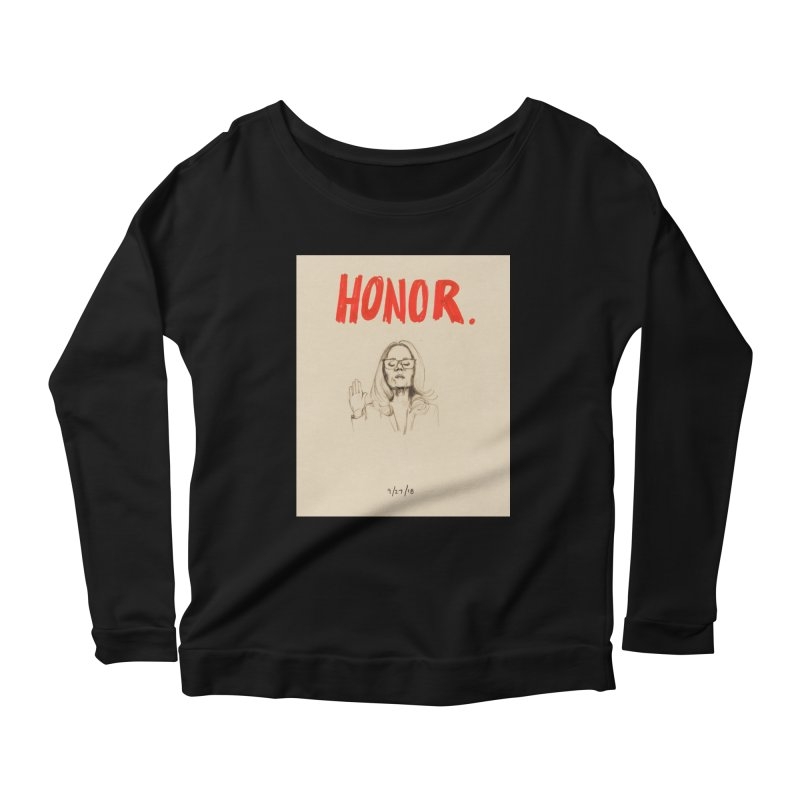 HONOR Women's Scoop Neck Longsleeve T-Shirt by Jess Love