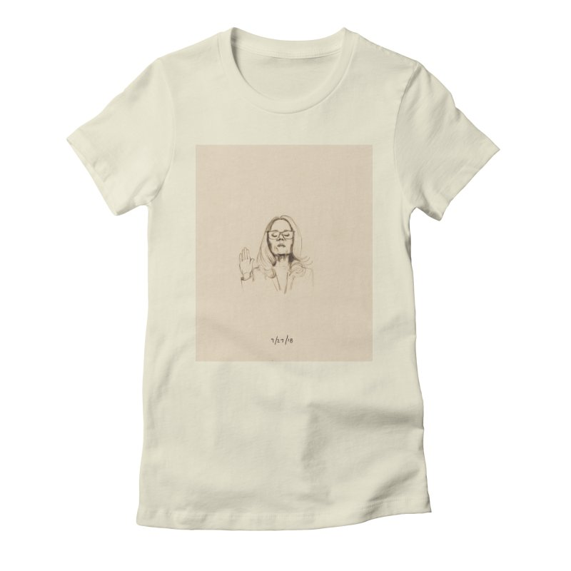 Dr. Christine Blasey Ford Women's Fitted T-Shirt by Jess Love