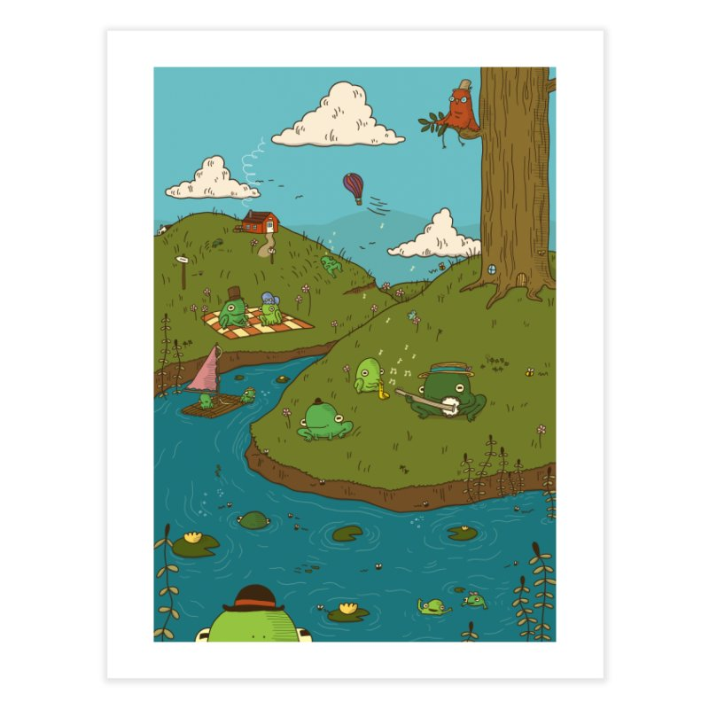 Frogs' Day Out Home Fine Art Print by Jess Murray's Shop