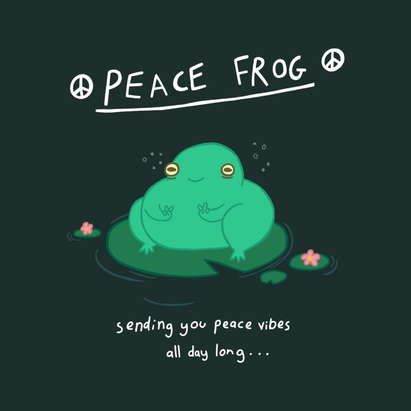 Peace Frog Men's T-Shirt by Jess Murray's Shop