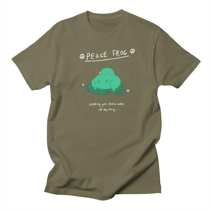 Peace Frog Women's Regular Unisex T-Shirt by Jess Murray's Shop