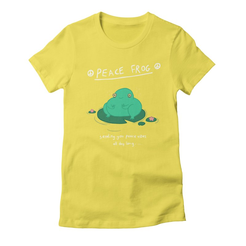 Peace Frog Women's Fitted T-Shirt by Jess Murray's Shop