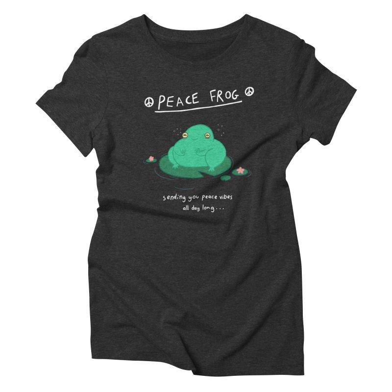 Peace Frog Women's Triblend T-Shirt by Jess Murray's Shop