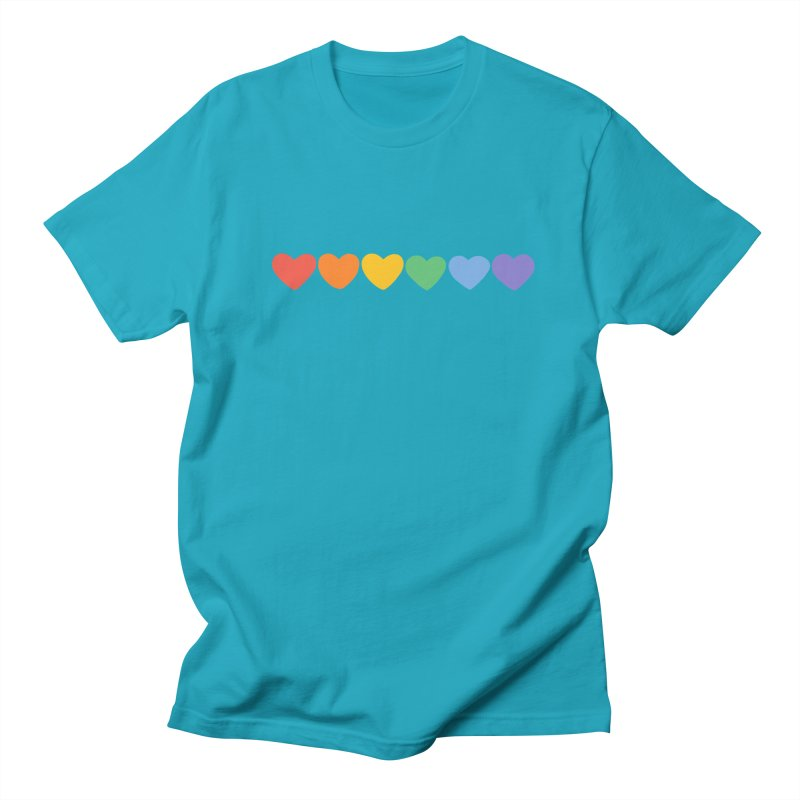 Hearts Men's T-shirt by Welcome to Jess Murray's Art Store