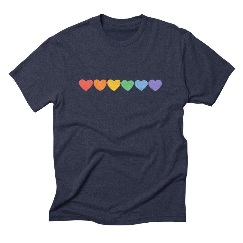 Hearts Men's Triblend T-Shirt by Jess Murray's Shop