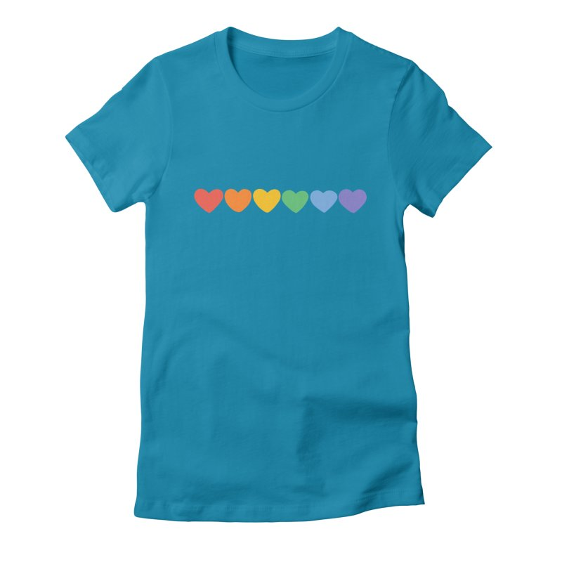Hearts Women's Fitted T-Shirt by Jess Murray's Shop