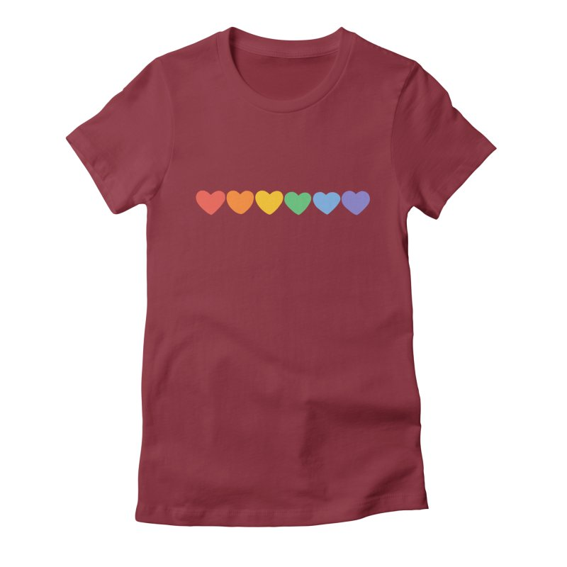 Hearts Women's Fitted T-Shirt by Welcome to Jess Murray's Art Store