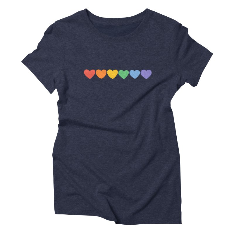 Hearts Women's Triblend T-shirt by Welcome to Jess Murray's Art Store