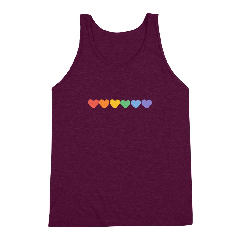 Hearts Men's Triblend Tank by Welcome to Jess Murray's Art Store