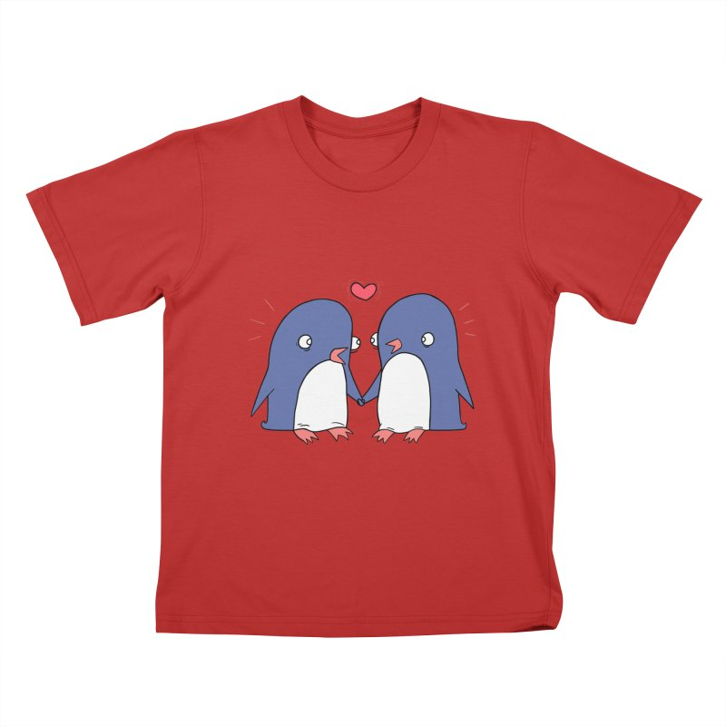 Penguins in Love Kids T-shirt by Jess Murray's Shop