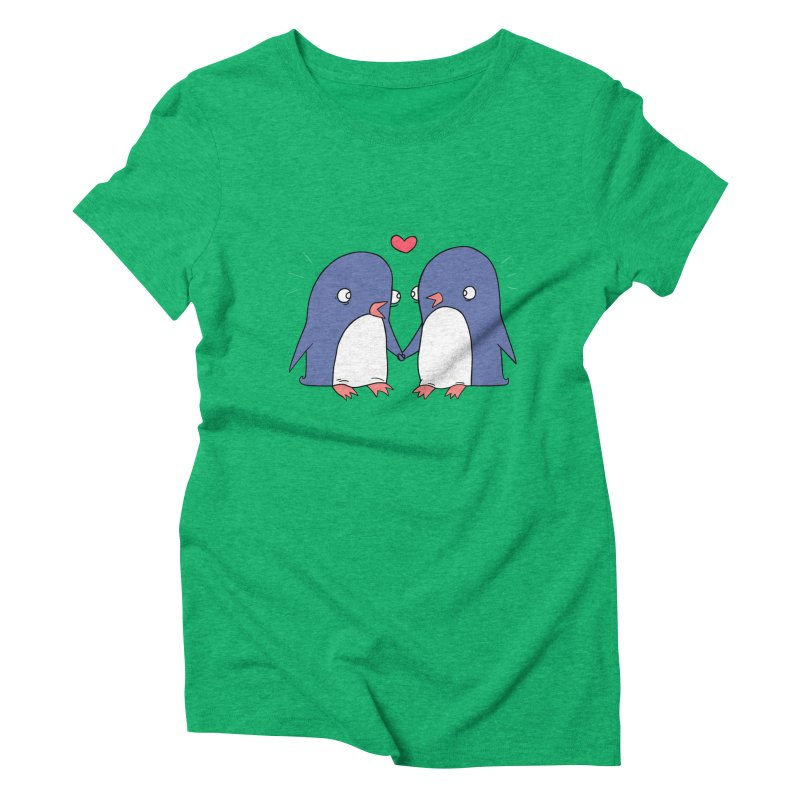 Penguins in Love Women's Triblend T-shirt by Jess Murray's Shop
