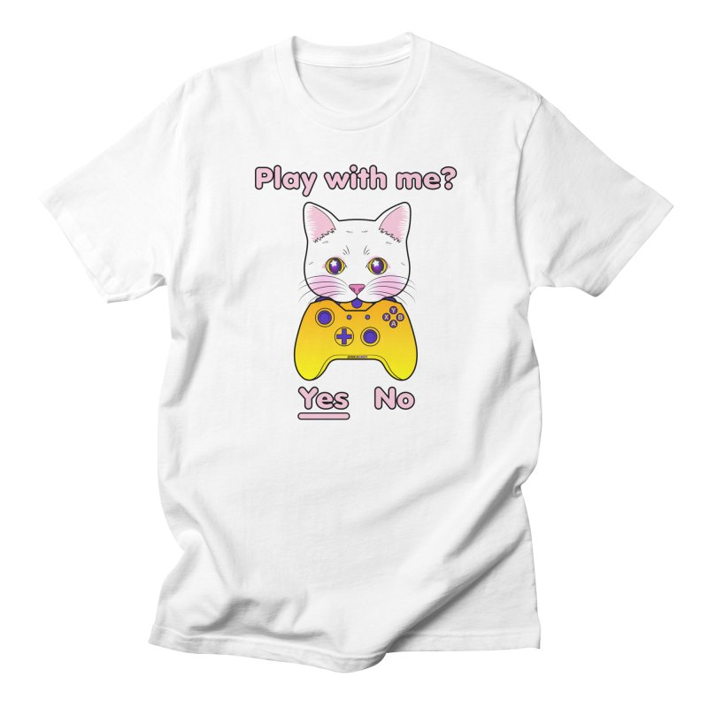 Play With Me Gamer Kitty Masculine T-Shirt by JessicaAmber's Threadless Shop