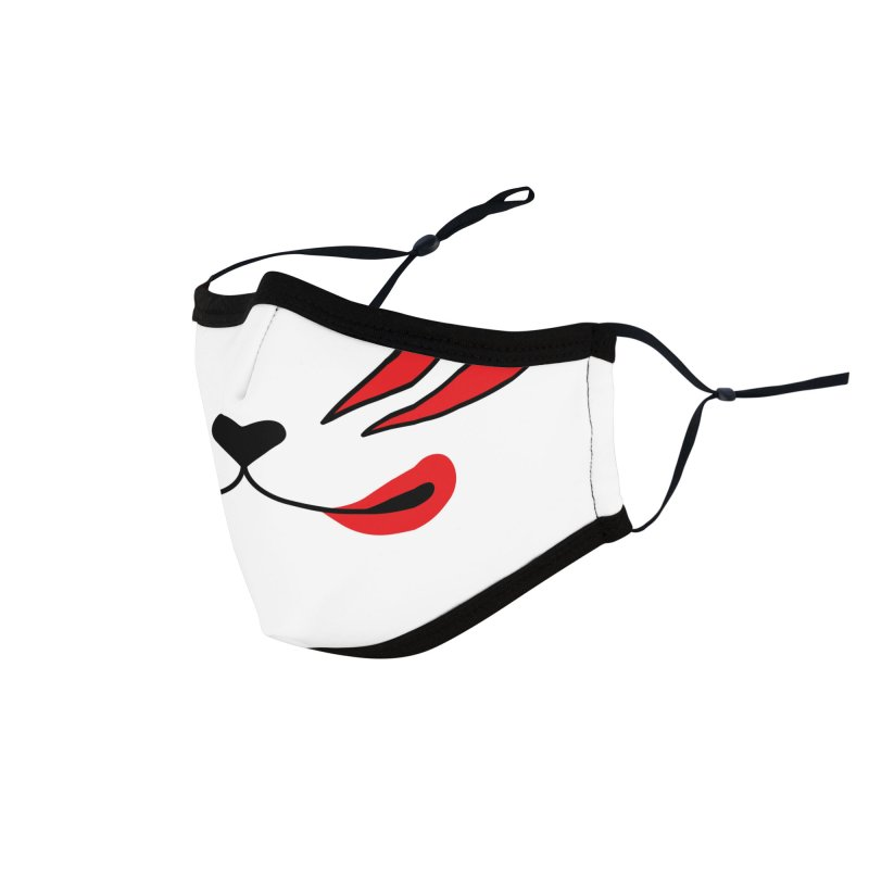 Kitsune Mask | White Red Japanese Fox Face Accessories Face Mask by JessicaAmber's Threadless Shop