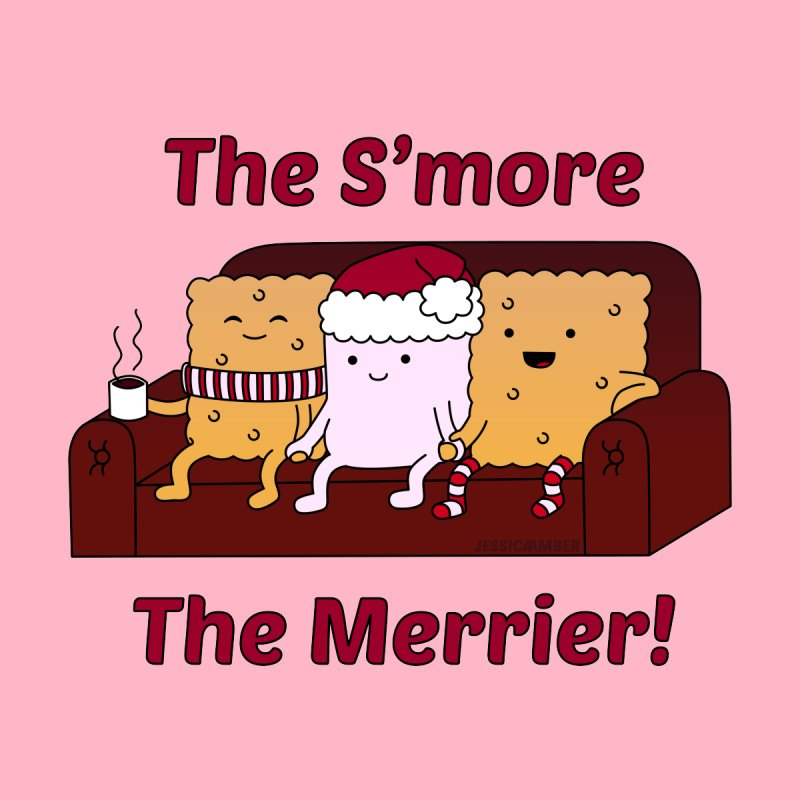 The S'more The Merrier | Christmas Cute Marshmallow and Crackers Men's T-Shirt by JessicaAmber's Threadless Shop