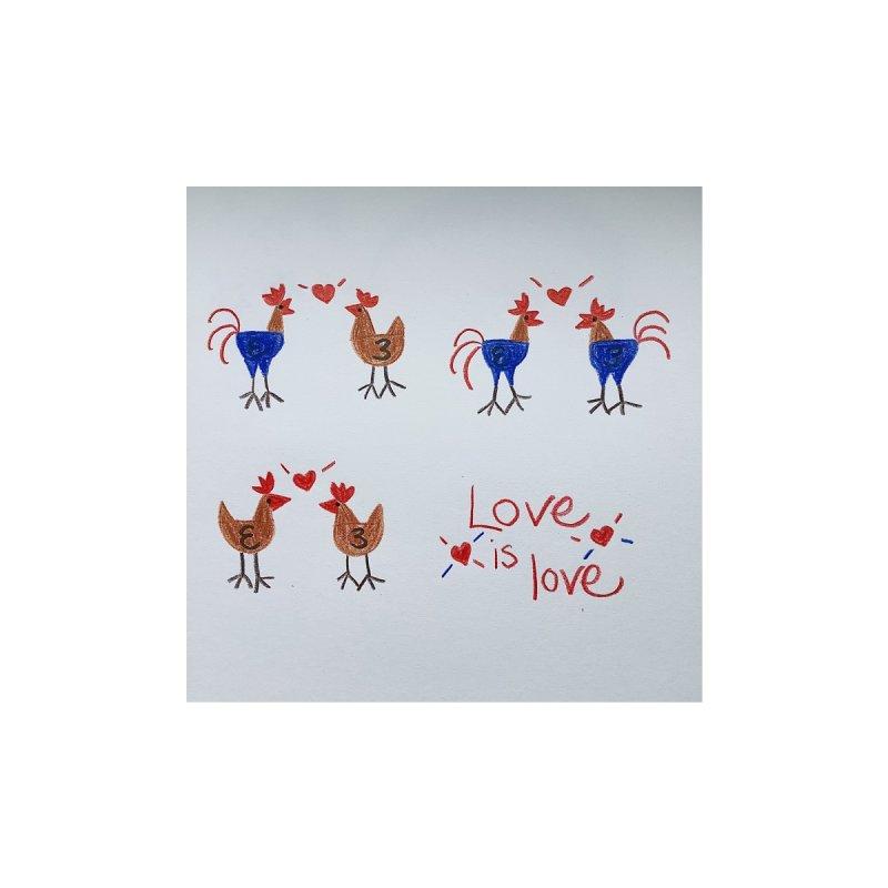 Love is love Men's T-Shirt by JessicaKantrowitz's Artist Shop