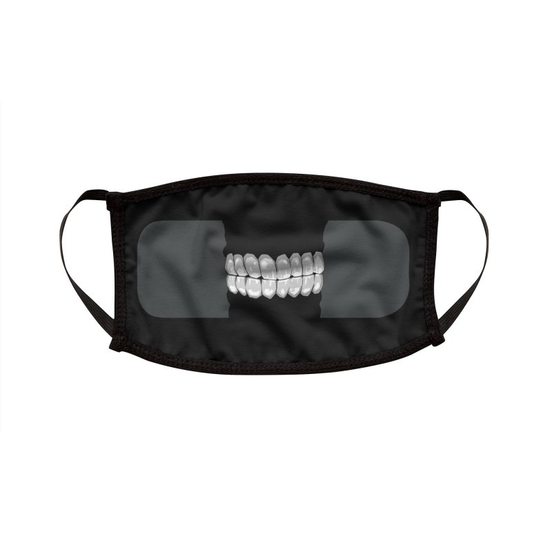 Bigmouth black'n'white Accessories Face Mask by Jhonen Vasquez's Stuff Place