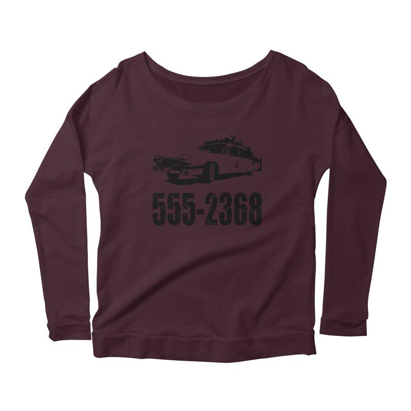 555-2368 Women's Longsleeve Scoopneck  by Jimbanzee's Artist Shop