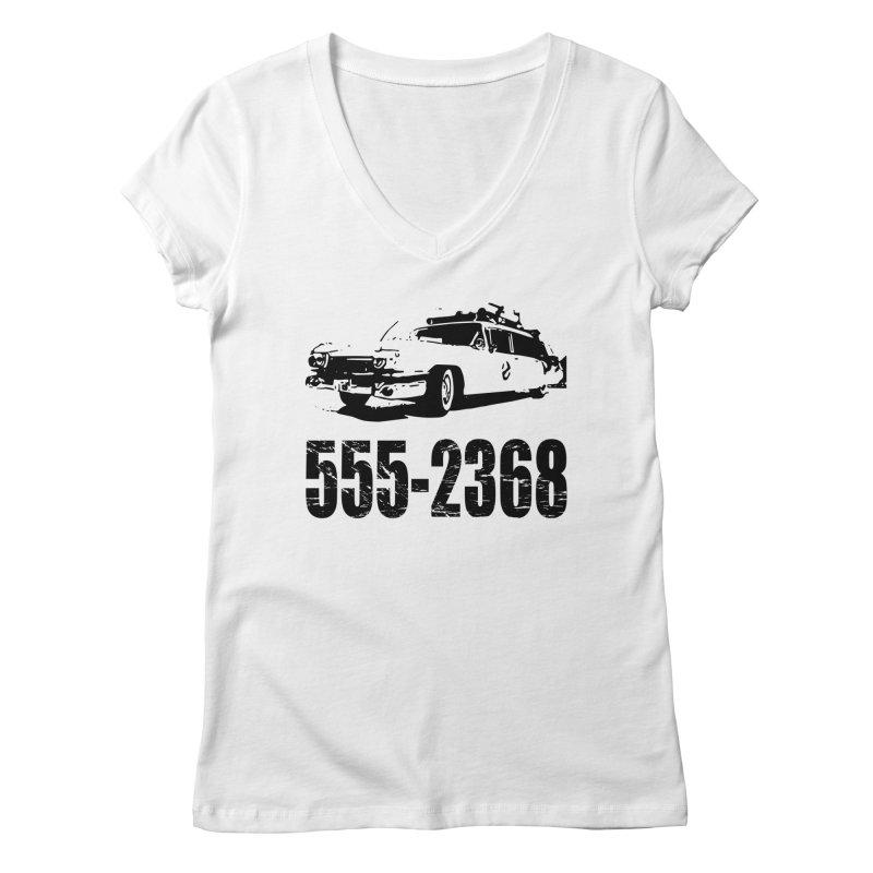 555-2368 Women's V-Neck by Jimbanzee's Artist Shop