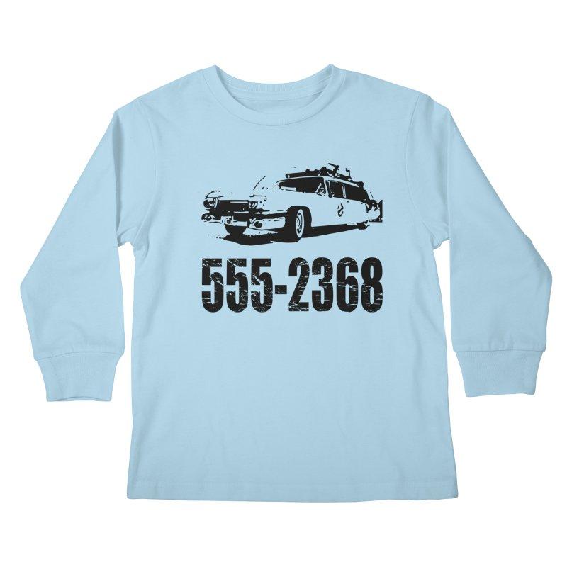 555-2368 Kids Longsleeve T-Shirt by Jimbanzee's Artist Shop