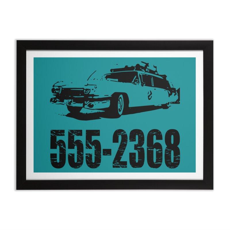 555-2368 Home Framed Fine Art Print by Jimbanzee's Artist Shop