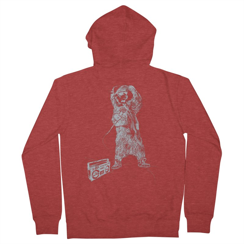 MC Grizzly Men's Zip-Up Hoody by Jimbanzee's Artist Shop