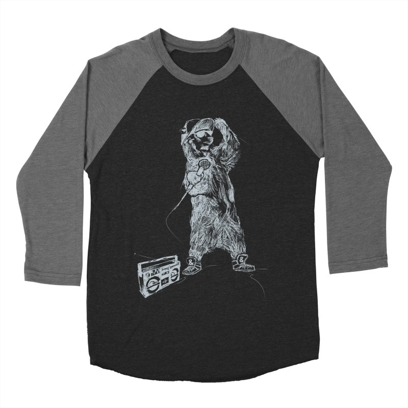 MC Grizzly Men's Baseball Triblend T-Shirt by Jimbanzee's Artist Shop