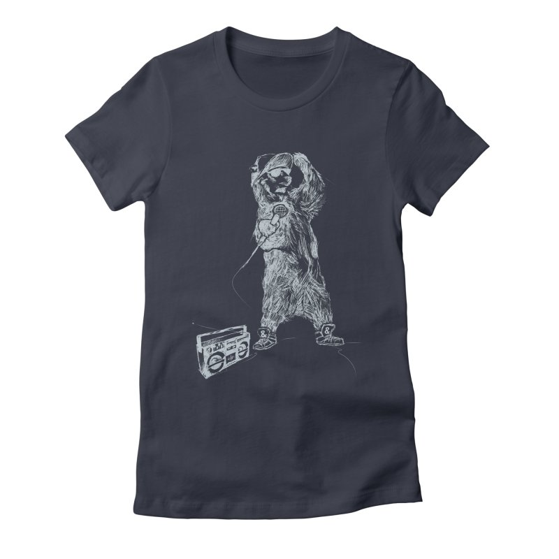MC Grizzly Women's Fitted T-Shirt by Jimbanzee's Artist Shop