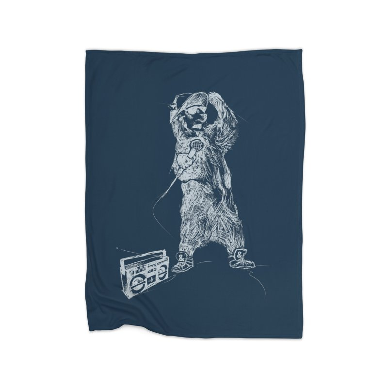 MC Grizzly Home Blanket by Jimbanzee's Artist Shop