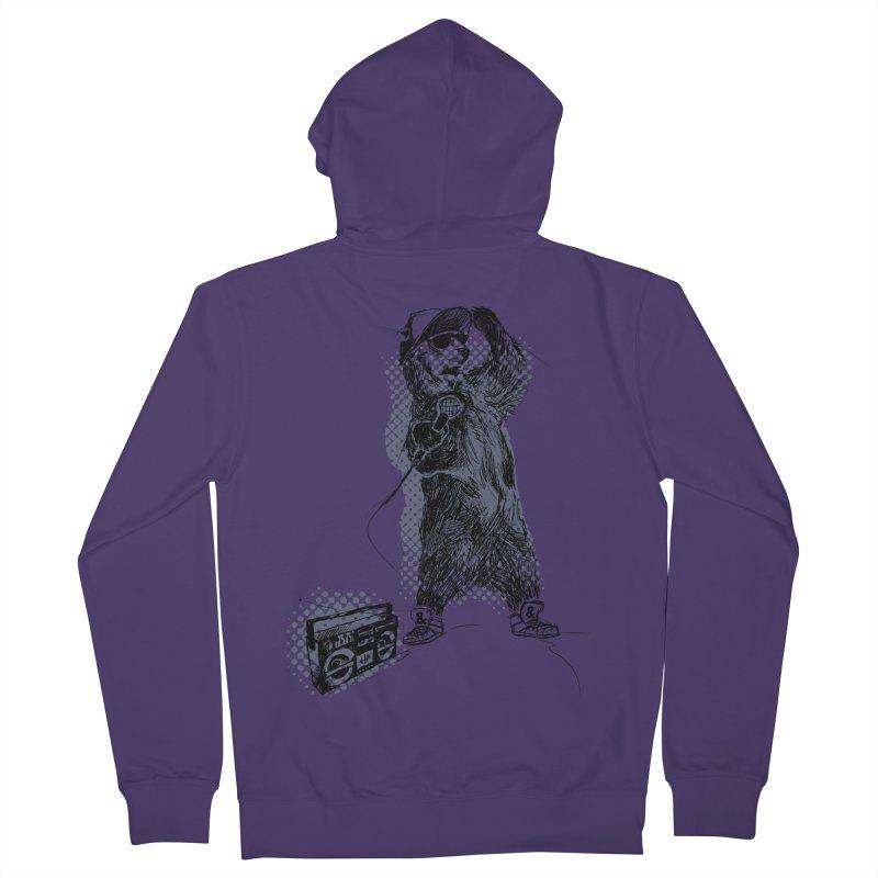 MC Grizzly Women's Zip-Up Hoody by Jimbanzee's Artist Shop
