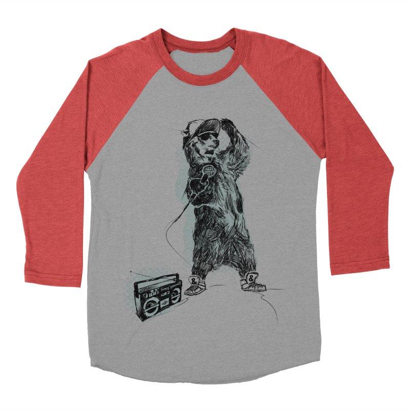 MC Grizzly Women's Baseball Triblend T-Shirt by Jimbanzee's Artist Shop