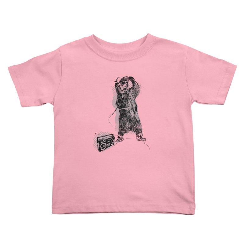 MC Grizzly Kids Toddler T-Shirt by Jimbanzee's Artist Shop