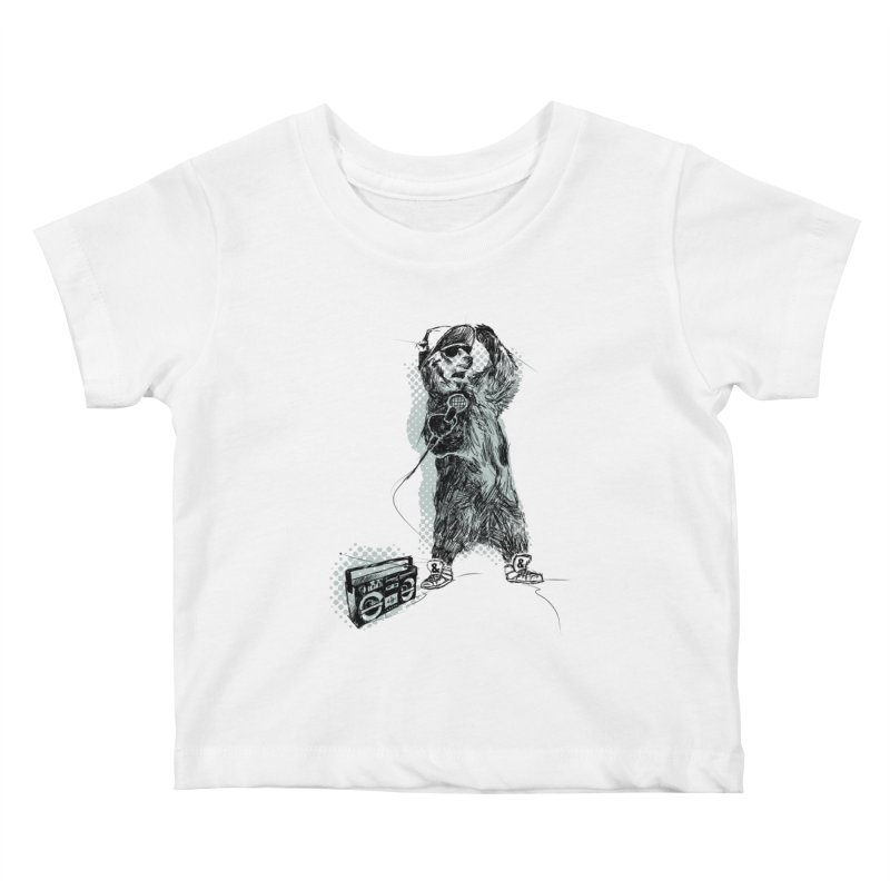 MC Grizzly Kids Baby T-Shirt by Jimbanzee's Artist Shop
