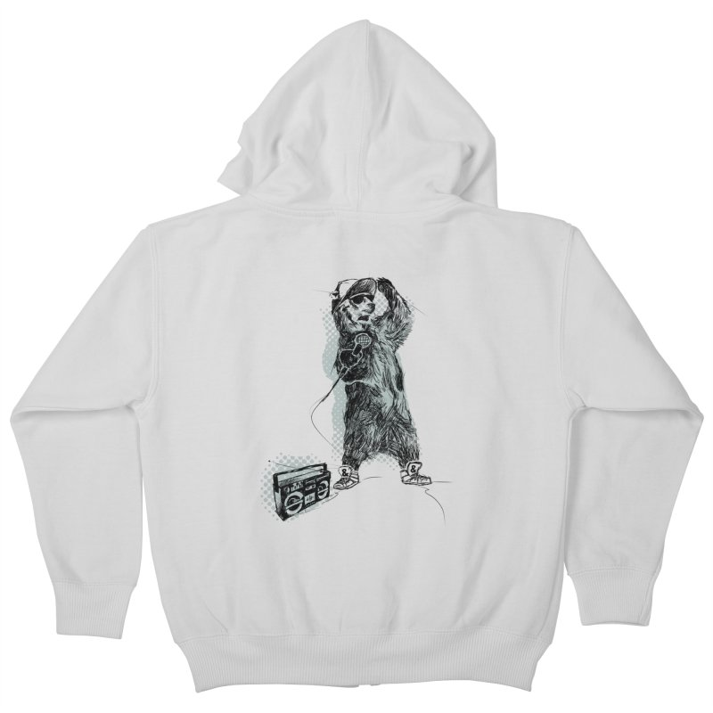MC Grizzly Kids Zip-Up Hoody by Jimbanzee's Artist Shop