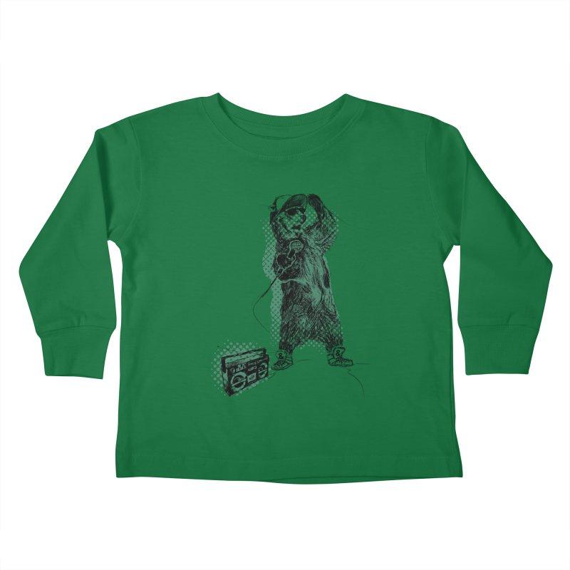 MC Grizzly Kids Toddler Longsleeve T-Shirt by Jimbanzee's Artist Shop