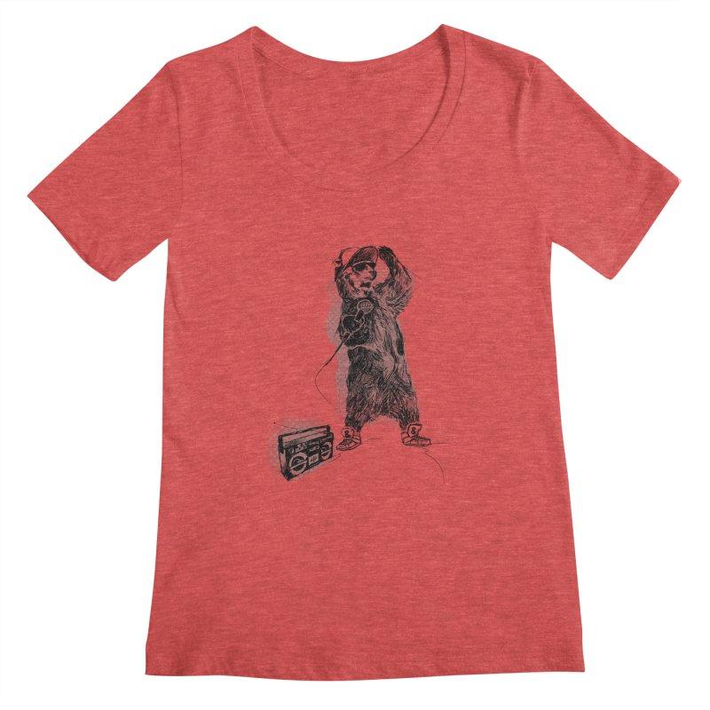 MC Grizzly Women's Scoopneck by Jimbanzee's Artist Shop