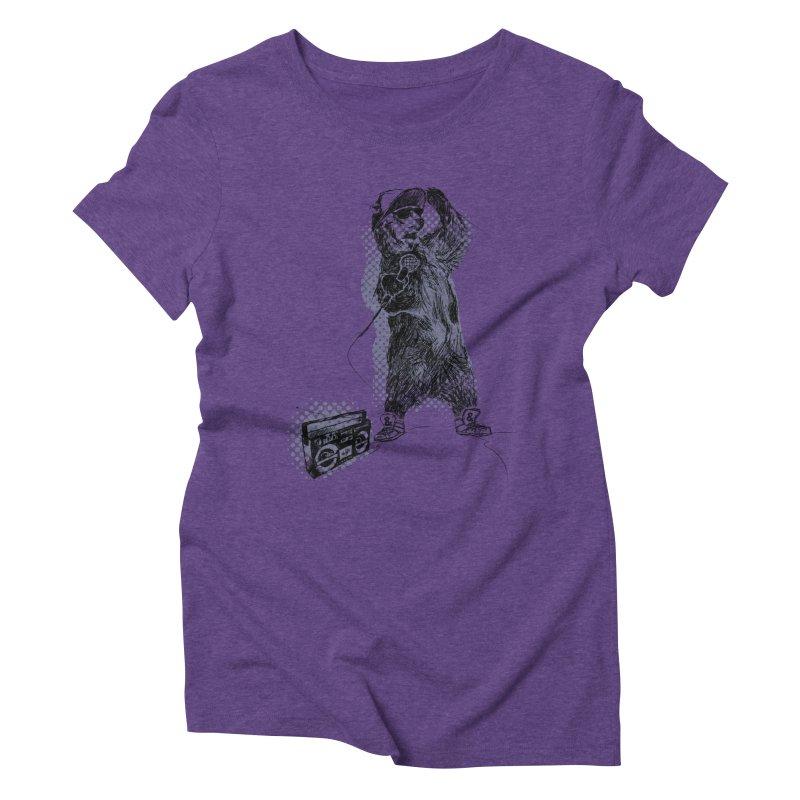 MC Grizzly Women's Triblend T-Shirt by Jimbanzee's Artist Shop