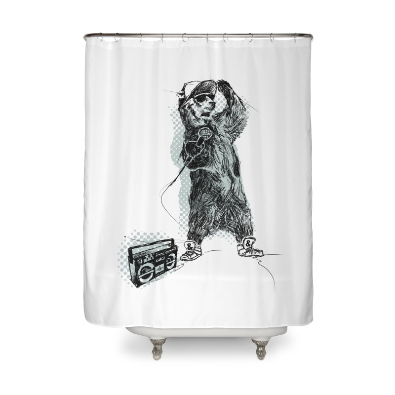 MC Grizzly Home Shower Curtain by Jimbanzee's Artist Shop
