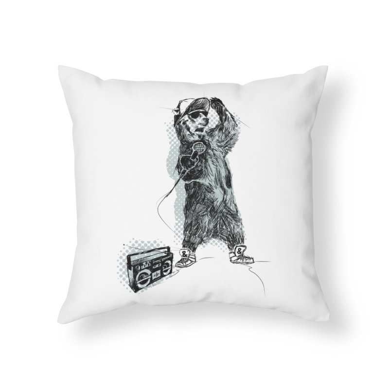 MC Grizzly Home Throw Pillow by Jimbanzee's Artist Shop