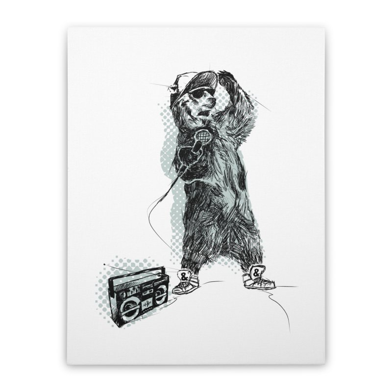 MC Grizzly Home Stretched Canvas by Jimbanzee's Artist Shop