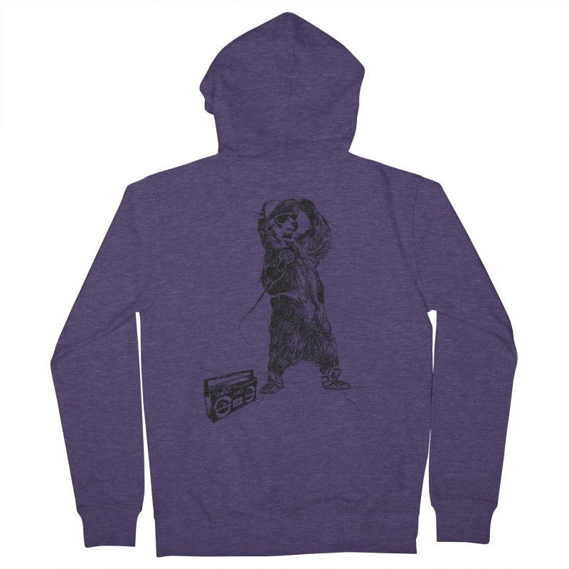 MC Grizzly Men's Zip-Up Hoody by Jimbanzee's Artist Shop