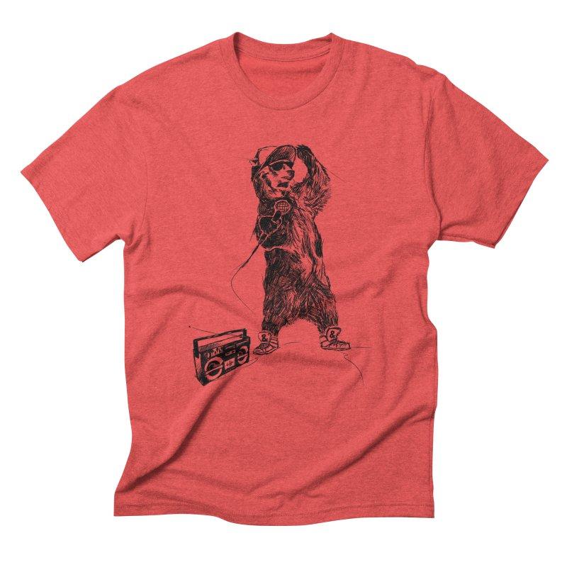 MC Grizzly Men's Triblend T-shirt by Jimbanzee's Artist Shop