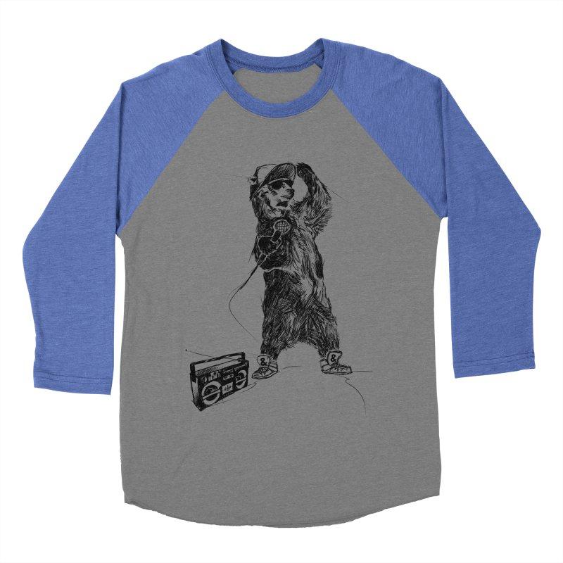 MC Grizzly Men's Baseball Triblend T-Shirt by Jimbanzee's Artist Shop