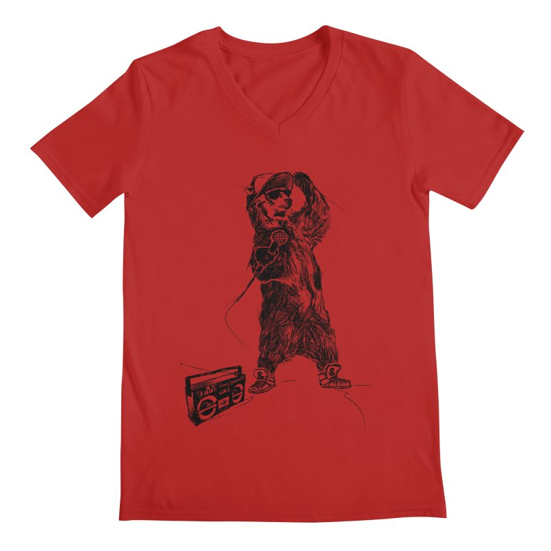 MC Grizzly Men's V-Neck by Jimbanzee's Artist Shop