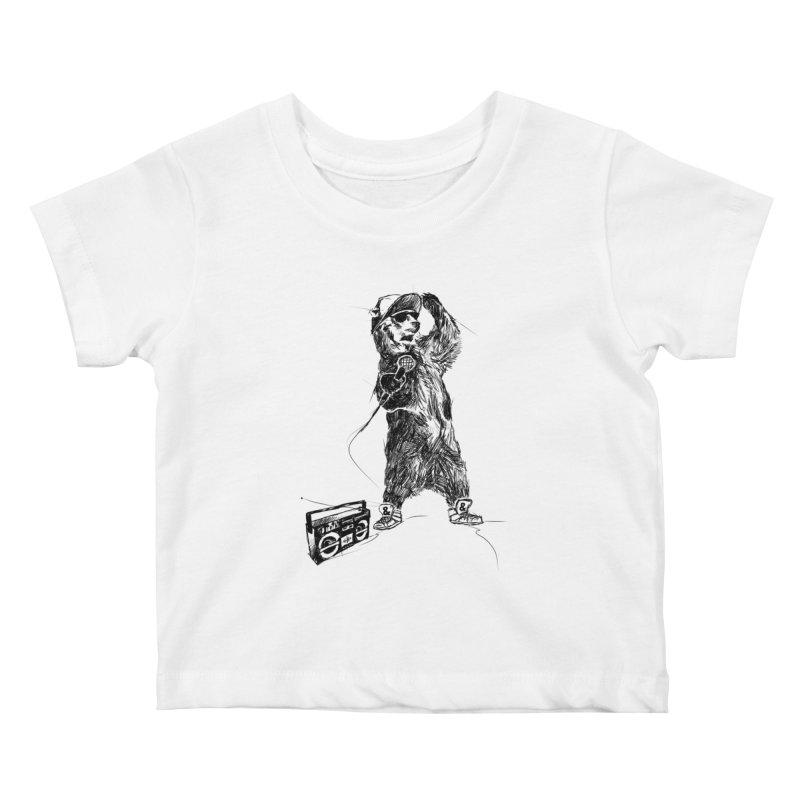 MC Grizzly Kids Baby T-Shirt by Jimbanzee's Artist Shop
