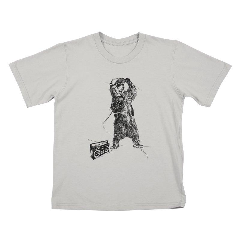 MC Grizzly Kids T-shirt by Jimbanzee's Artist Shop