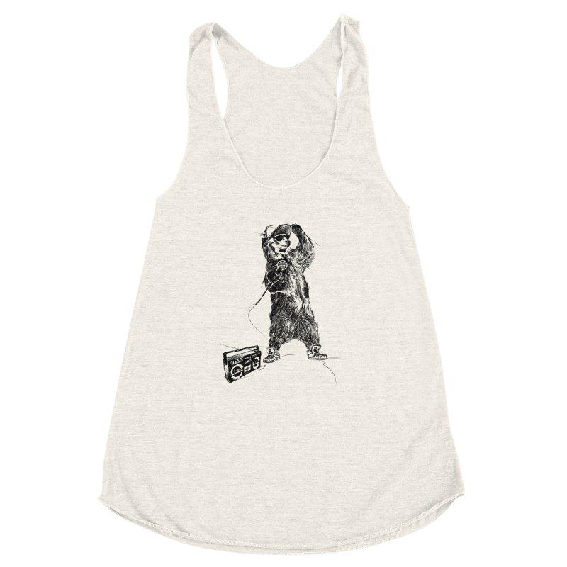 MC Grizzly Women's Racerback Triblend Tank by Jimbanzee's Artist Shop