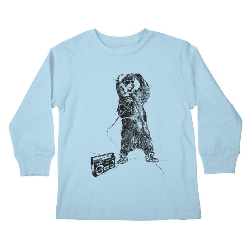MC Grizzly Kids Longsleeve T-Shirt by Jimbanzee's Artist Shop