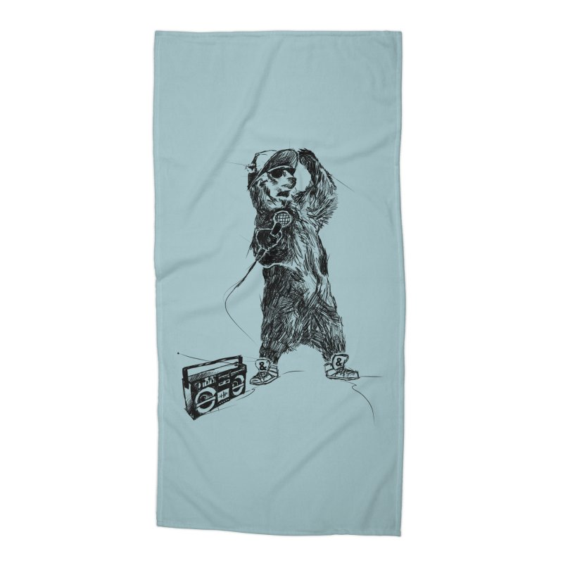 MC Grizzly Accessories Beach Towel by Jimbanzee's Artist Shop