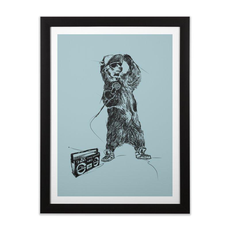 MC Grizzly Home Framed Fine Art Print by Jimbanzee's Artist Shop